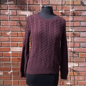 H&M Purple Knit Sweater Soft and Comfortable